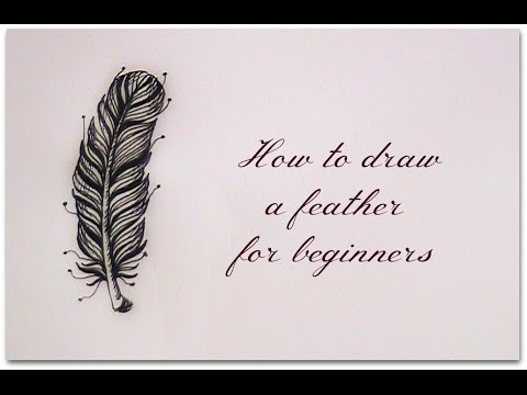 how to draw a feather easy version for beginners youtube. Black Bedroom Furniture Sets. Home Design Ideas