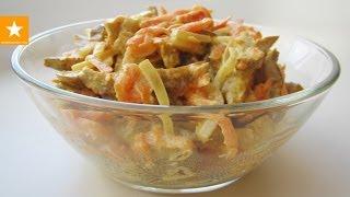 Теплый белковый салат из сейтана от Мармеладной Лисицы