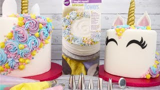 How To Pipe A Magical Mane On A Unicorn Cake