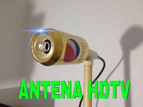 ✔ antena hd casera ultra potente con lata de pepsi