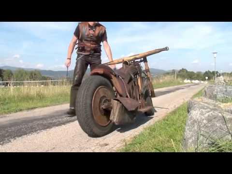 Holz-Motorrad ! - YouTube