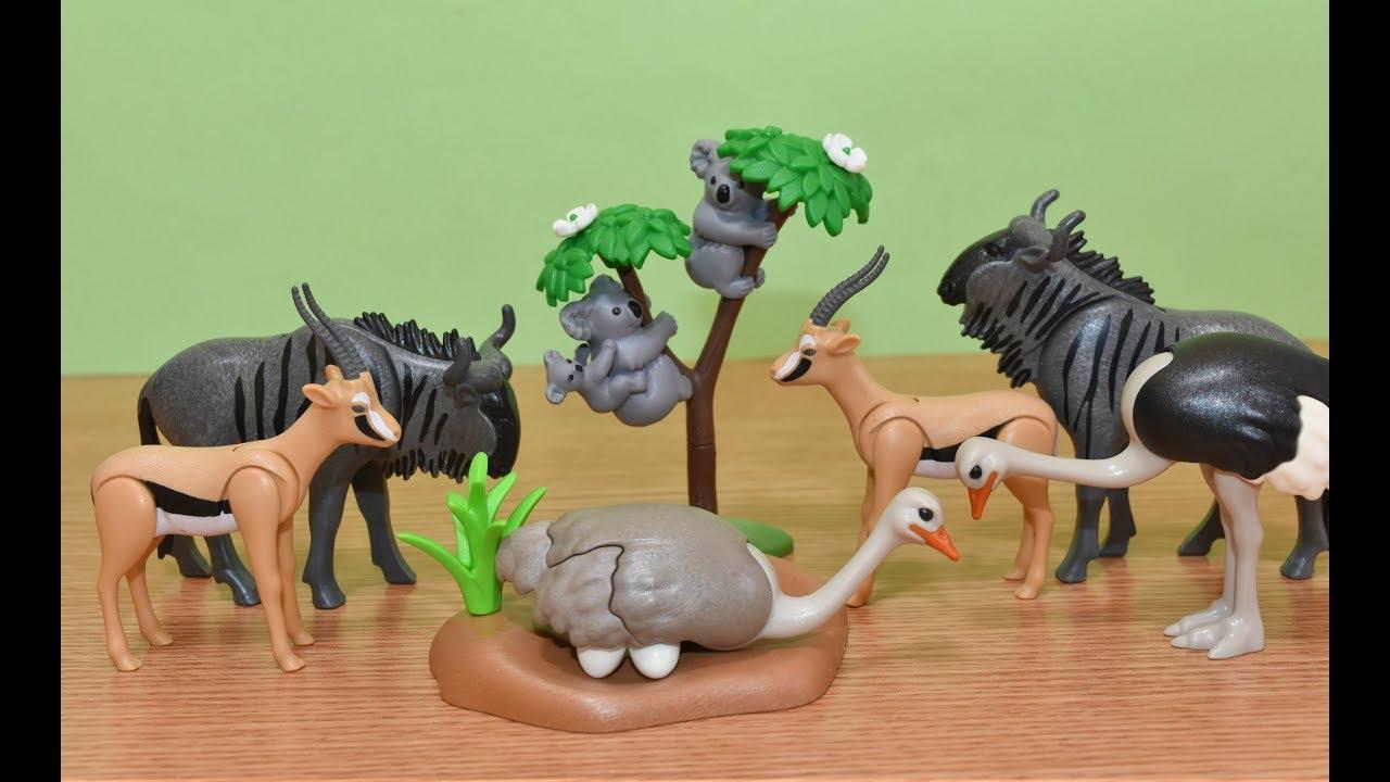 Playmobil Wild Life Animals Safari Toy Animal Toys Jungle Koala Ostrich Gazelle