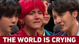BTS Crying In MAMA 2018 | دموعكم غالية