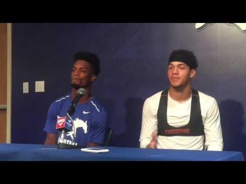 Jordan Wyatt and Braeden West post game interviews Liberty at SMU