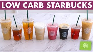 Low Carb / Keto Starbucks Drinks Iced Coffee & Iced Teas!