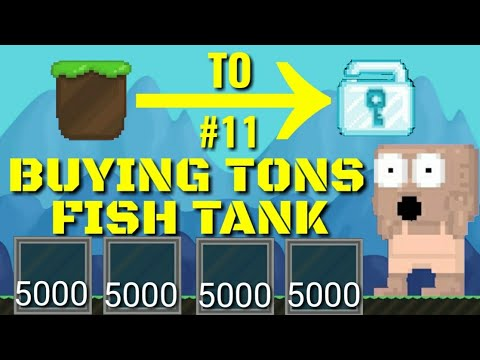 Dirt To Dl 11 Farming Tons Fish Tank Growtopia Youtube