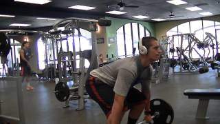 14,730 Pounds Deadlifts - 96 reps of 135 And 10 Reps of 225