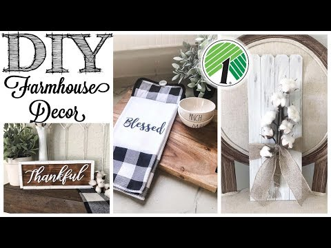 DIY Dollar Tree Farmhouse Decor | 3 PROJECTS!