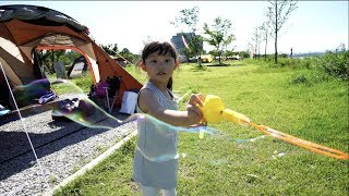 [라임 뮤직비디오] 여주 금은모래캠핑장에 가다! 어린이 놀이터 체험 장난감 놀이 LimeTube & Toy 라임튜브