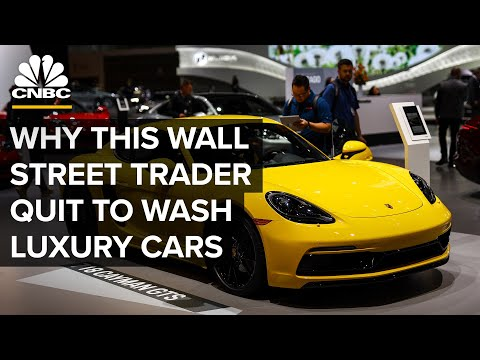 Why One Wall Street Trader Quit His Job To Wash High-End Cars | CNBC Make It.