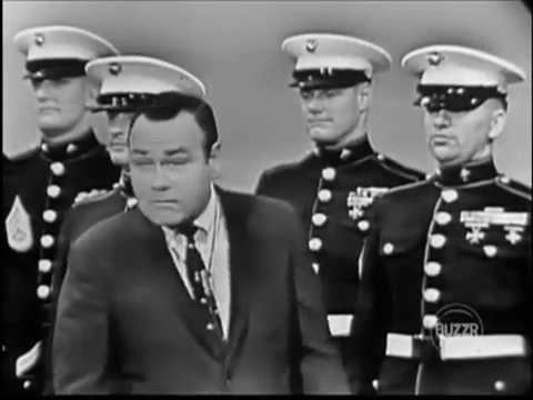 US Marines drill to commands of Jonathan Winters and four other civilians