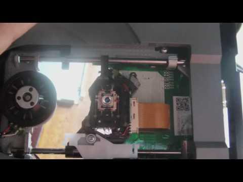 how to take apart xbox 360 slim disk drive