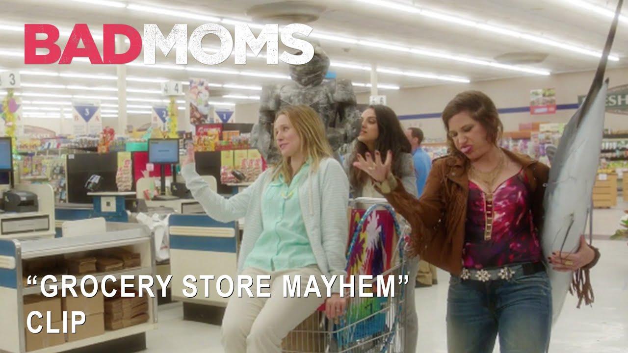 "Bad Moms | ""Grocery Store Mayhem"" Clip | Own It Now on Digital HD, Blu-Ray & DVD"