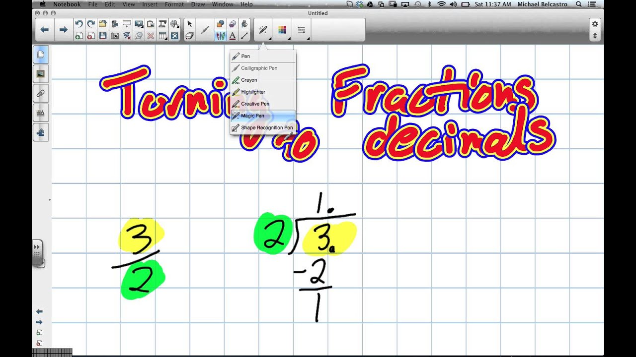 Turning Fractions To Decimals Grade 8 Nelson Lesson 2 5 2