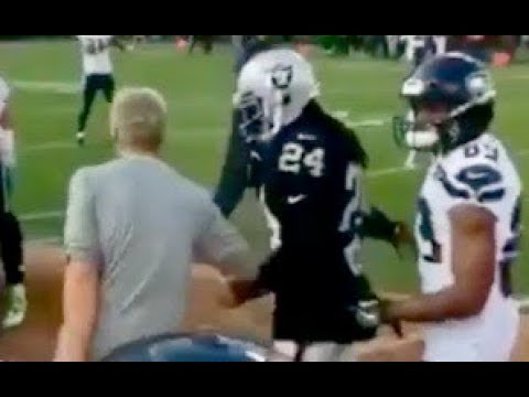 Marshawn Lynch RUNS UP on Pete Carroll During Raiders vs Seahawks Pre Game!