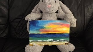 painting sunset scenery