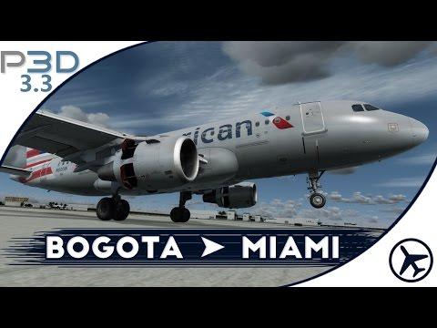 Despegue a 8000 pies de altura! | BOG - MIA | A319 [Aerosoft] | Prepar3D 3.3 [IVAO]
