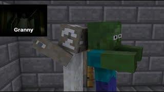 Monster School GRANNY HORROR GAME CHALLENGE Minecraft Animation