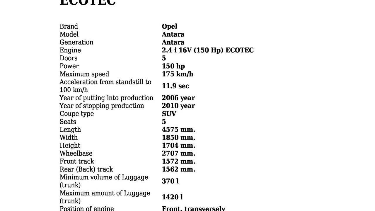 General motors engineer gives us the lowdown on ecotec 2 4 youtube - Opel Antara 2 4 I 16v 150 Hp Ecotec Technical Specifications