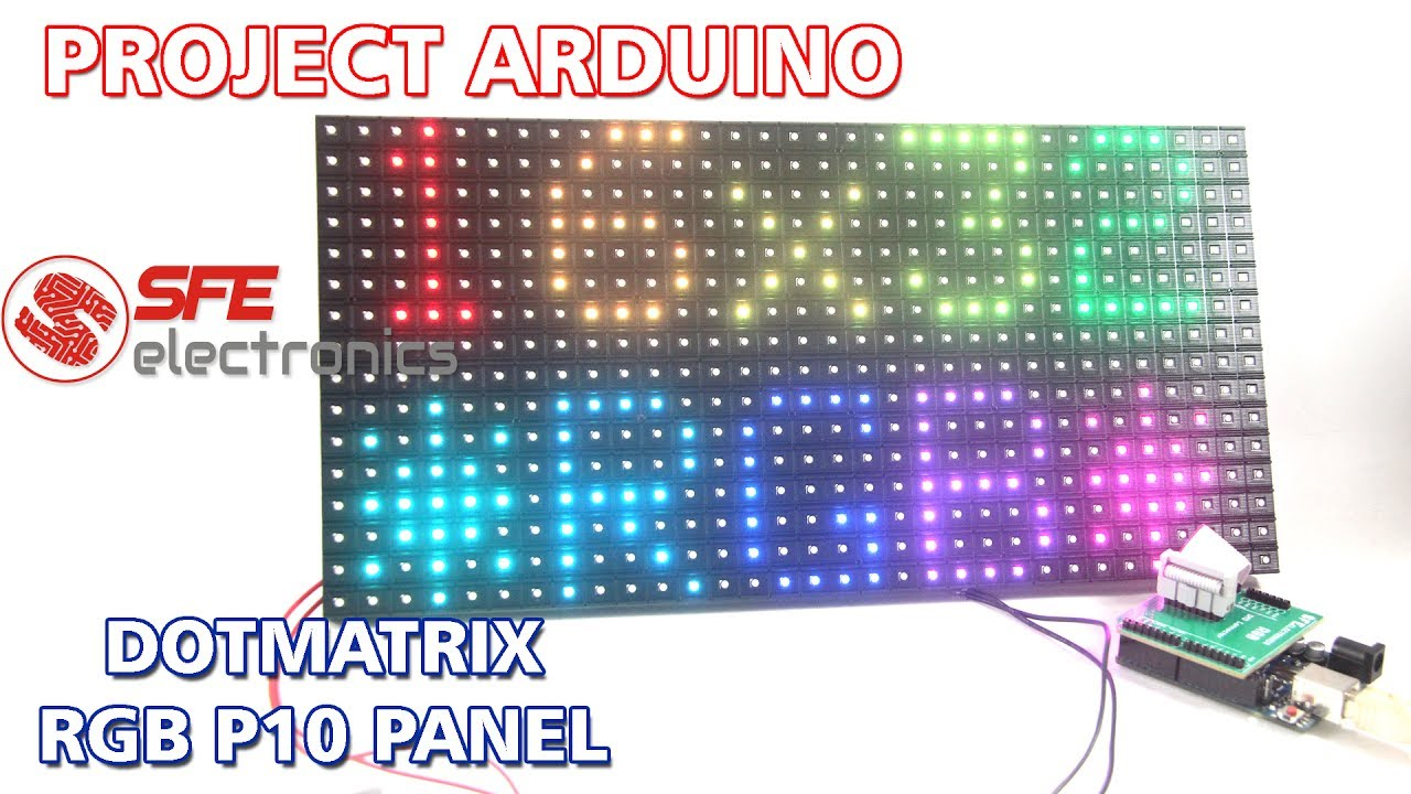 Arduino RGB Dotmatrix P10 Panel