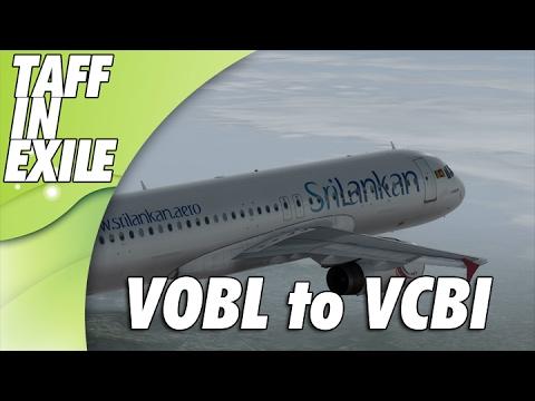 P3d | Aerosoft A320 | Bangalore VOBL - Colombo VCBI