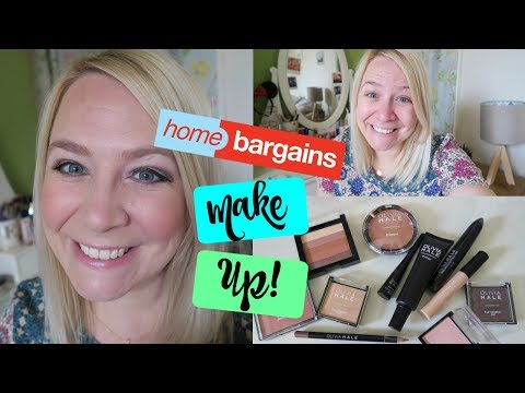 TESTING HOME BARGAINS MAKEUP!
