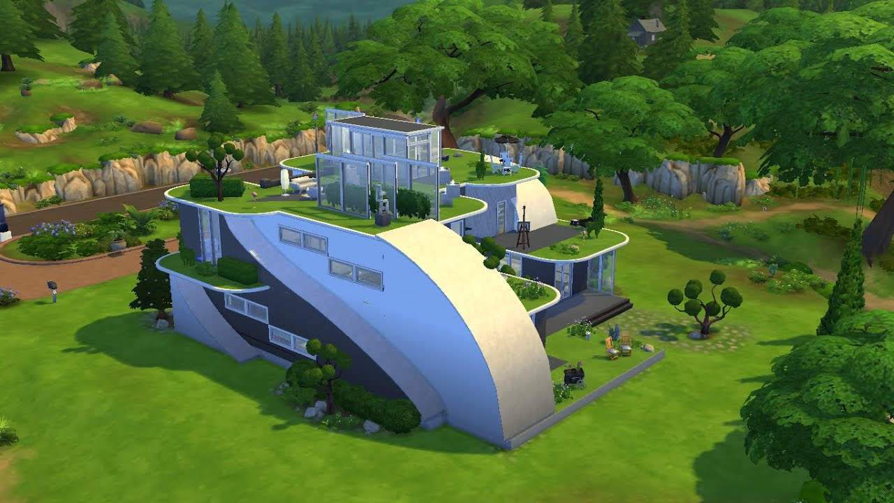 The Sims 4 Futuristic House Building Youtube - sims 4 house design