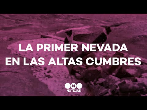 La PRIMERA NEVADA del AÑO llegó a las ALTAS CUMBRES en CÓRDOBA - TFN