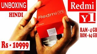 Redmi Y1 Unboxing and Hands on review in HINDi 4gb ram and 64gb rom