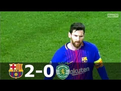 Barcelona vs Sporting Lisbon 2-0 - UCL 2017-2018 - Highlights (English Commentary)