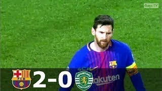 Download Video Barcelona vs Sporting Lisbon 2-0 - UCL 2017-2018 - Highlights (English Commentary) MP3 3GP MP4