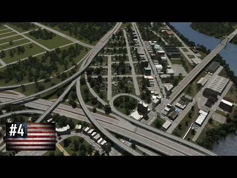 Cities: Skylines - The American Dream #4 - Moving eastwards along highways, industry, rail and decay