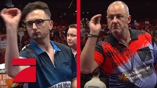 MarcelScorpion & Martin Schindler vs. Frank Rosin & Phil Taylor | Gruppenphase | Promi Darts WM
