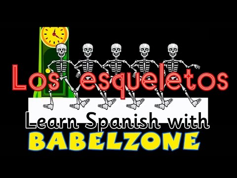 BABELZONE - Los esqueletos - Skeleton song - spanish songs for kids