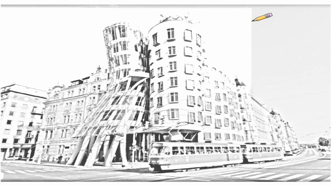 Auto Draw 2 Dancing House Prague Czech Republic Youtube
