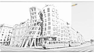 Auto Draw 2: Dancing House, Prague, Czech Republic
