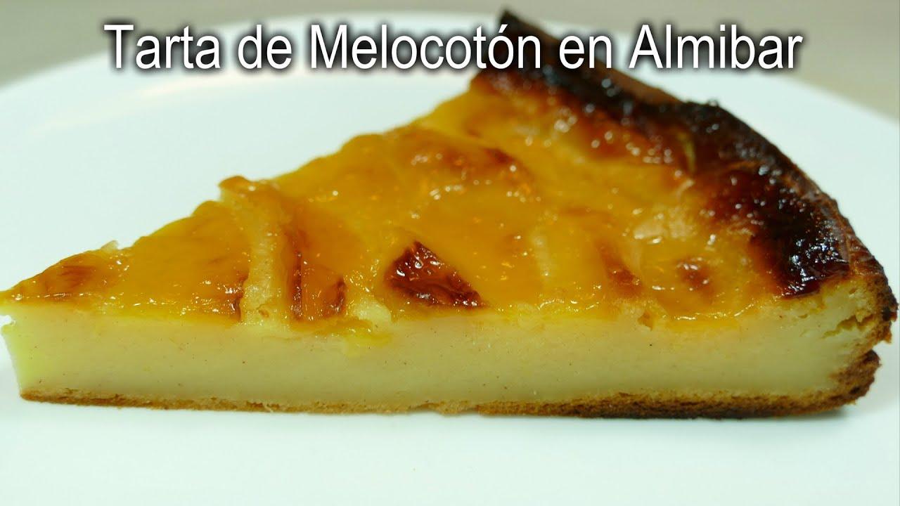 Tarta de Melocotón en Almibar - Receta casera fácil
