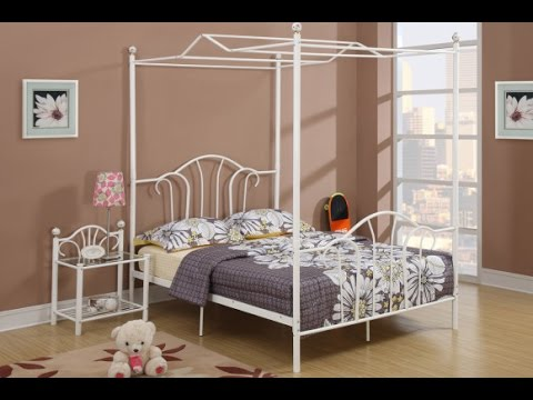 remarkable full size canopy bed design ideas - youtube