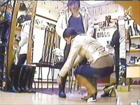 women in a shoe shop