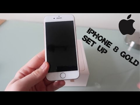 iPhone 8 First Boot Up and Set-Up (64GB Gold)