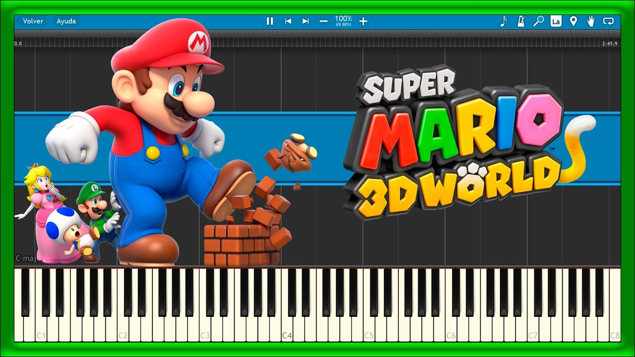 Super Mario 3D World - Theme Song (Piano Tutorial)