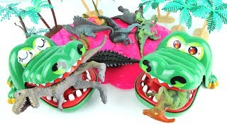 Crocodiles Eat Dinosaurs! Giant Dinosaur finally had revenge on Crocodiles! Fun Toy Animation kids.
