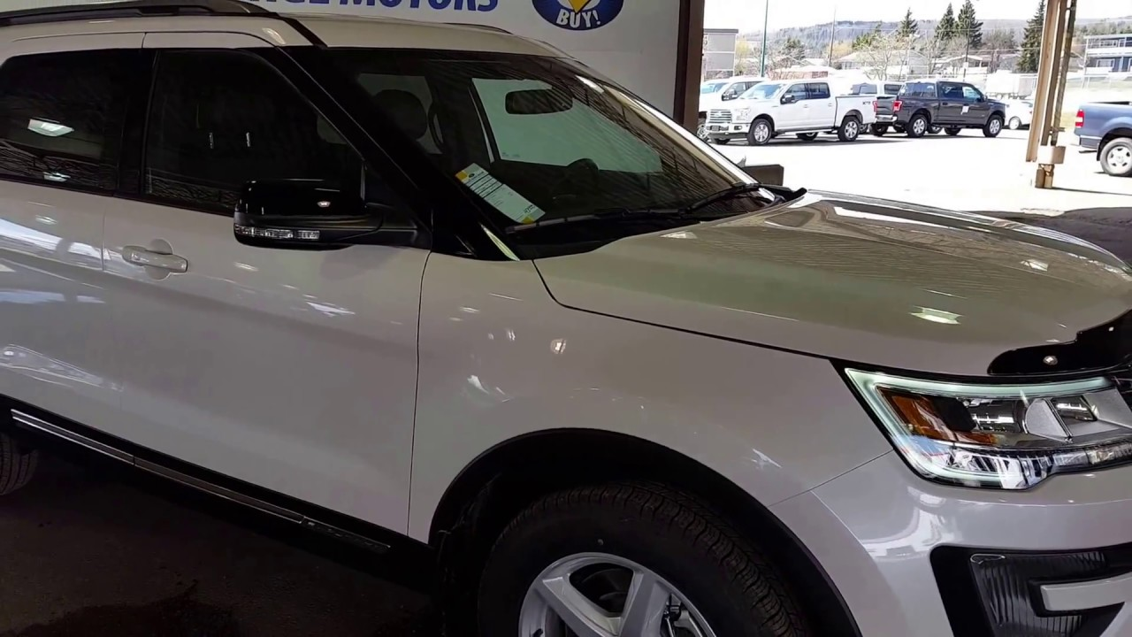 White 2017 Ford Explorer Xlt 4wd Review Prince George Bc Prince