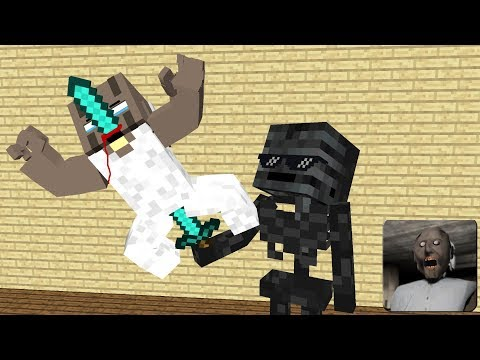Monster School : GRANNY HORROR GAME RIP  - Minecraft Funny Animation