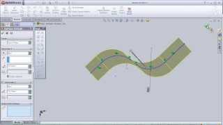1- SolidWorks Surface Tutorial: Extrudeded Surface pt1