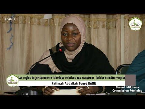 Les règles de jurisprudence islamique relatives aux menstrues  lochies et métrorrargies