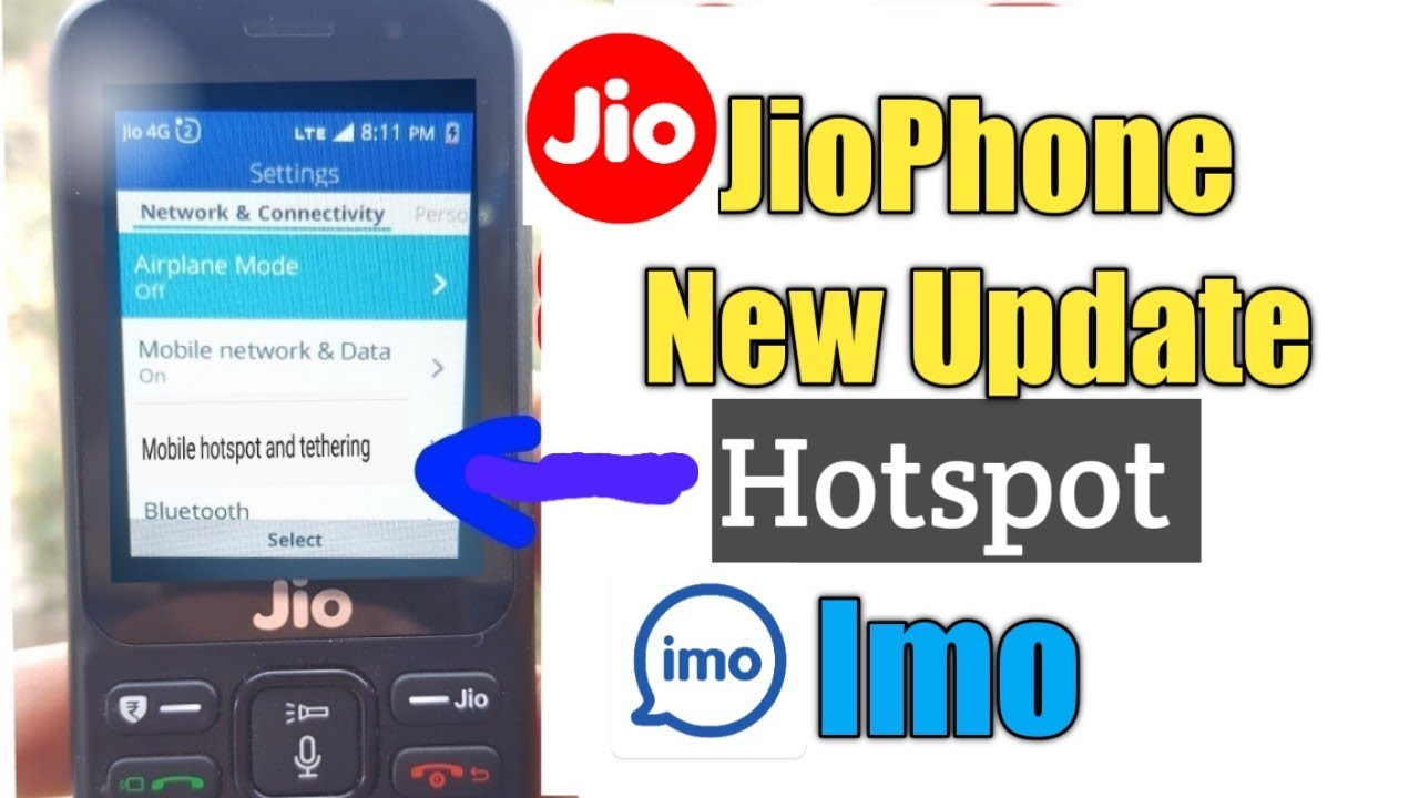 Hotspot in Jiophone |Jiophone hotspot | Share JioPhone data | Jiophone new  Update hotspot imo apk