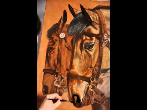 'Lancashire Mounted Branch' Time Lapse Painting by Laura Barber-Riley