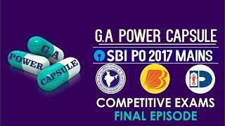 GA Power Capsule (EP 8) For SBI PO MAINS, NIACL, BOB PO, DENA BANK PO & COMPETITIVE EXAMS