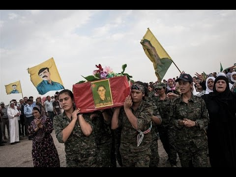 Kurdish Female Fighters on front line against ISIS
